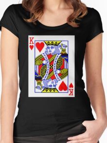 King Of Heart Women's Fitted Scoop T-Shirt