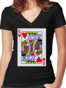 King Of Heart Women's Fitted V-Neck T-Shirt