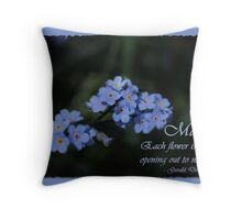 May's Fabulous Forget-Me-Not Throw Pillow