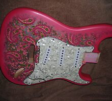 How Do You Like the Fuschia Pink Paisley Strat I'm building ? by mando13