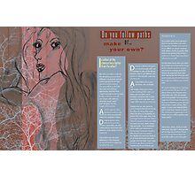 Artist Vs Designer Spread 03 Photographic Print