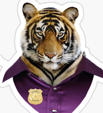 security tiger  Sticker