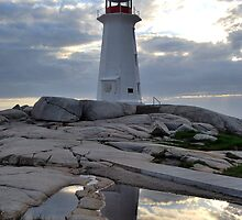 Double Take - Lighthouse in Peggy's Cove by Caites