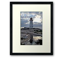Double Take - Lighthouse in Peggy's Cove Framed Print