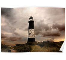 The Old Lighthouse - Spurn Point. Poster
