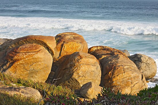 Rocks at Lights Beach, Denmark, Western Australia by Elaine Teague