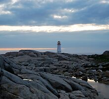 Lighthouse from Afar - Peggy's Cove by Caites
