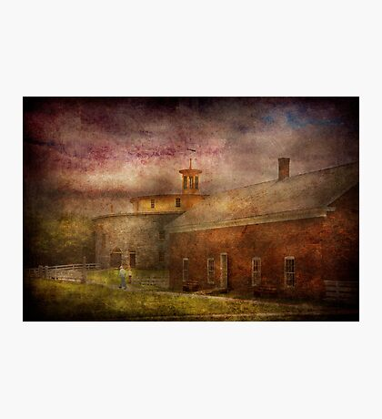 Farm - Barn - Shaker Barn  Photographic Print