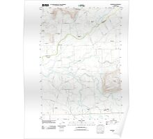 USGS Topo Map Oregon Crabtree 20110908 TM Poster