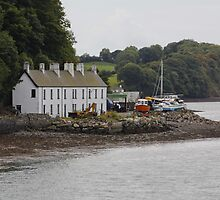 Fishermens Cottages by the Irish Sea at Bangor North Wales by AnnDixon