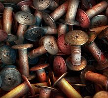 Sewing - Spools  by Mike  Savad