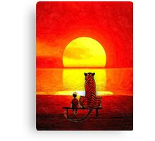 Calvin and Hobbes Sunset Canvas Print