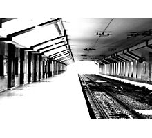 Time keeps on ticking, are you in the right train  Photographic Print