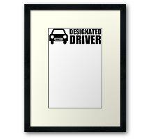 DESIGNATED DRIVER - Funny Mens Unisex T-Shirt - SIZE S - XXXL - Drinking Framed Print