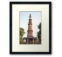 Qutab Minar (an ancient Mughal architecture) Framed Print