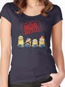 The Banana Funny Unusual Suspects Women's Fitted Scoop T-Shirt