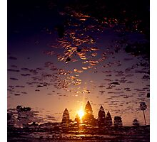 the sacred kingdom - sunrise at angkor wat Photographic Print