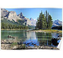 Spirit Island, Maligne Lake, Jasper NP Poster