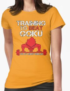 Train To Beat GOKU Womens Fitted T-Shirt