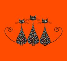 Thre Funky Black Cats Kids Clothes