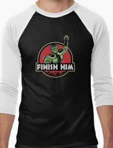 Finish Him Men's Baseball ¾ T-Shirt