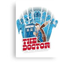 Dalek Dr Who Inspired - DOCTOR WHO EXTERMINATE TARDIS Canvas Print
