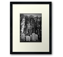 Ormskirk Parish Church Graveyard Framed Print