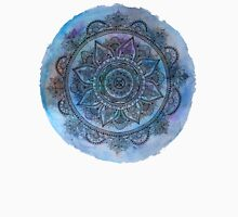 Blue Mandala Transparent Background Unisex T-Shirt