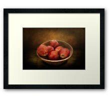 Food - Apples - A bowl of apples  Framed Print