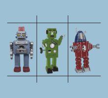 Retro Toy Robots One Piece - Short Sleeve