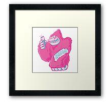 Gorilla Loves His Mummy Framed Print