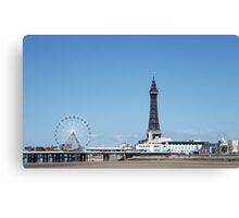 Blackpool Tower & Central Pier Canvas Print