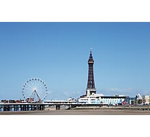Blackpool Tower & Central Pier Photographic Print