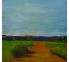 Through the Rolling Fields, mixed media on canvas Photographic Print