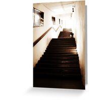 monastery stairway Greeting Card