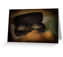 Optometrist - Glasses for Reading  Greeting Card