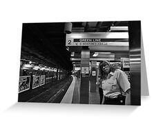 Subway Security Greeting Card