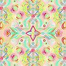 Soft Neon Pastel Boho Pattern by micklyn