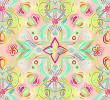 Soft Neon Pastel Boho Pattern by micklyn