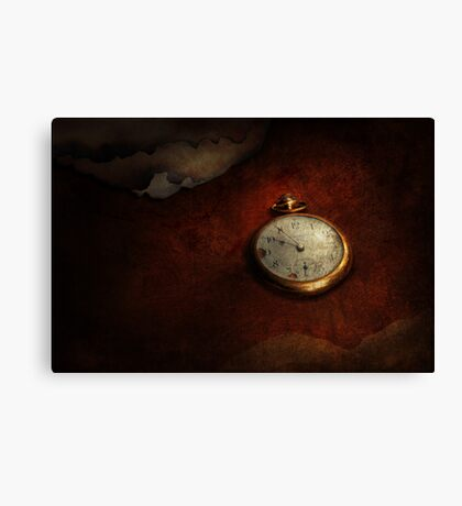 Clock - Time waits for nothing  Canvas Print