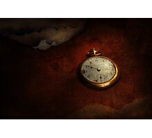 Clock - Time waits for nothing  Photographic Print