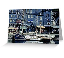 Honfleur - A corner of the Old Harbor Greeting Card