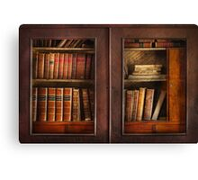 Writer - Books - The book cabinet  Canvas Print