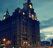 Liver Building, Liverpool by Liam Liberty