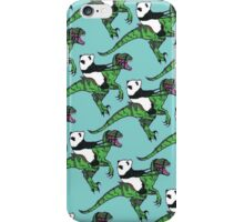 Jurassic Panda logo print blue iPhone Case/Skin
