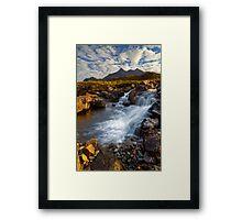 Sligachan Waterfall. Isle of Skye. Scotland. Framed Print