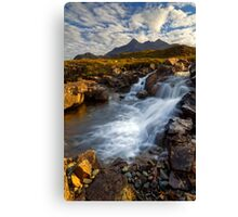 Sligachan Waterfall. Isle of Skye. Scotland. Canvas Print