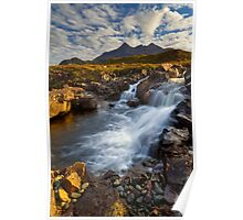Sligachan Waterfall. Isle of Skye. Scotland. Poster