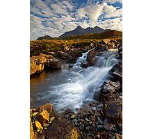 Sligachan Waterfall. Isle of Skye. Scotland. Photographic Print