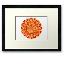 Firery Dahlia Framed Print